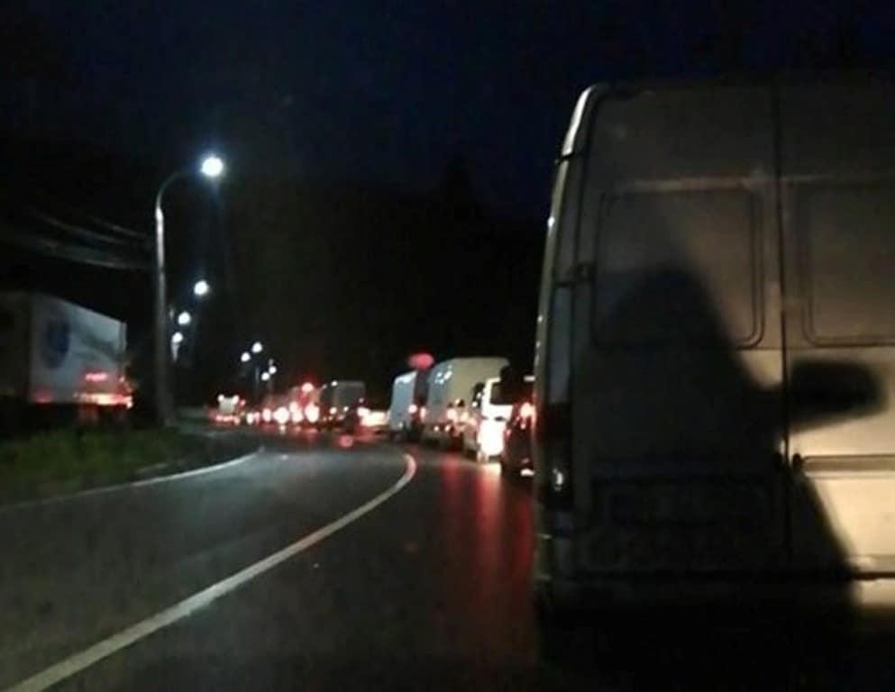 trafic coloana noaptea