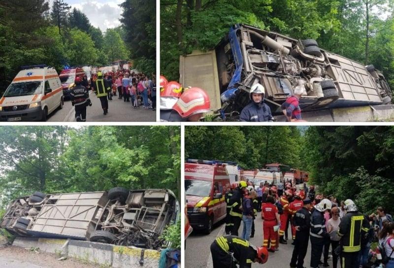 accident autocar brasov rasnov