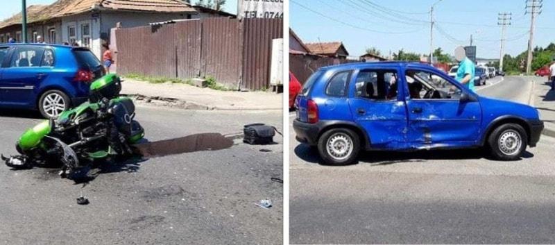 accident mures motocicleta