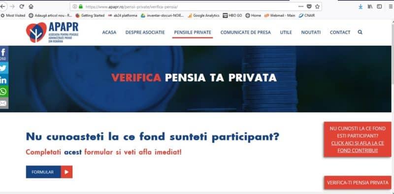 pensie privata