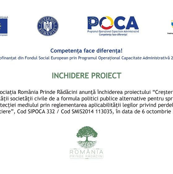 anunt inchidere proiect