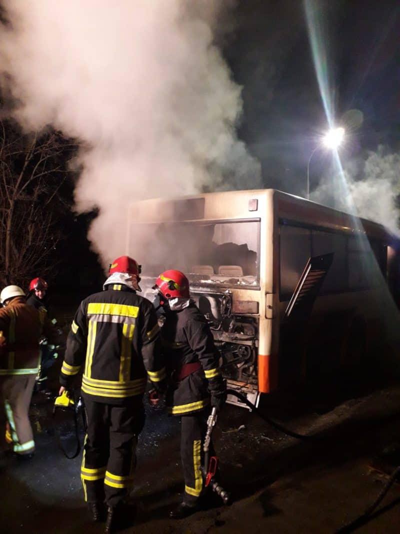 incendiu autobuz