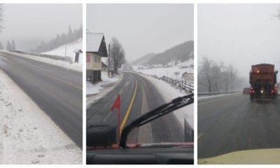 ninsoare drumuri