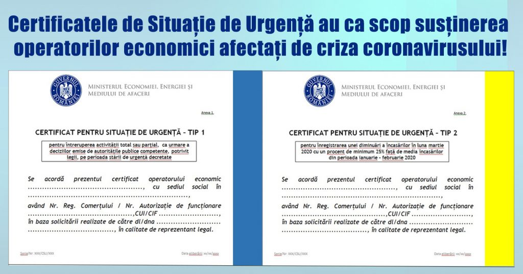 certificate situatii de urgenta