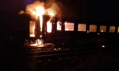 incendiu tren vagon